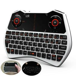 2.4G Rii i28 white mini Wireless Touchpad Air Mouse Keyboard