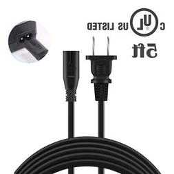 Vani 5ft UL AC Power Cord Cable Lead Wire for TCL Roku Smart