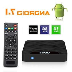 7.1 Android TV Box - J-DEAL W1 Newest Android 7.1 Smart TV B