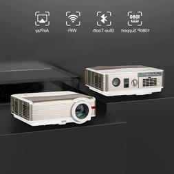 8000lm Smart HD Projector Android Wifi Projector Blue-tooth