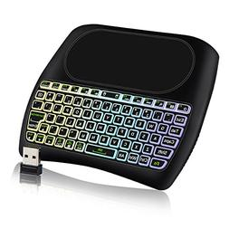 LATME D8 2.4GHz Backlit Mini Wireless Keyboard Mouse Touchpa