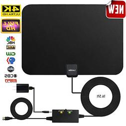 Amplified HD Digital TV Antenna,Skywire TV Antenna 80 Miles
