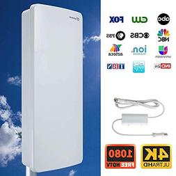 Antop Outdoor Amplified TV Antenna,80 Mile Multi-Directional