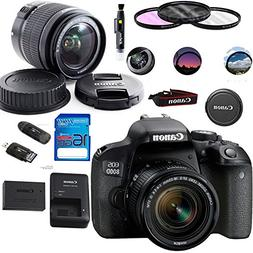 Canon EOS 800D/Rebel T7i Digital SLR Camera with 18-55 IS ST