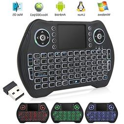 EASYTONE Backlit Mini Wireless Keyboard With Touchpad Mouse