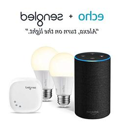 Echo  - Charcoal Fabric with 2 Smart Bulb Kit by Sengled