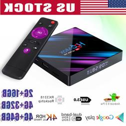 New H96 Android 9.0 Smart TV Box 64G Quad Core 4K HD 5.8GHz