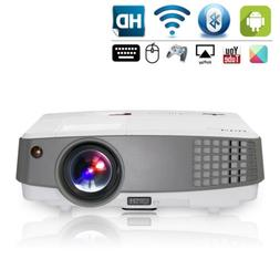 HD LCD Smart Home Video Projector Android WIFI Bluetooth Onl