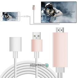 HDMI Mirroring Smart Cable Phone to TV HDTV Adapter For iPho