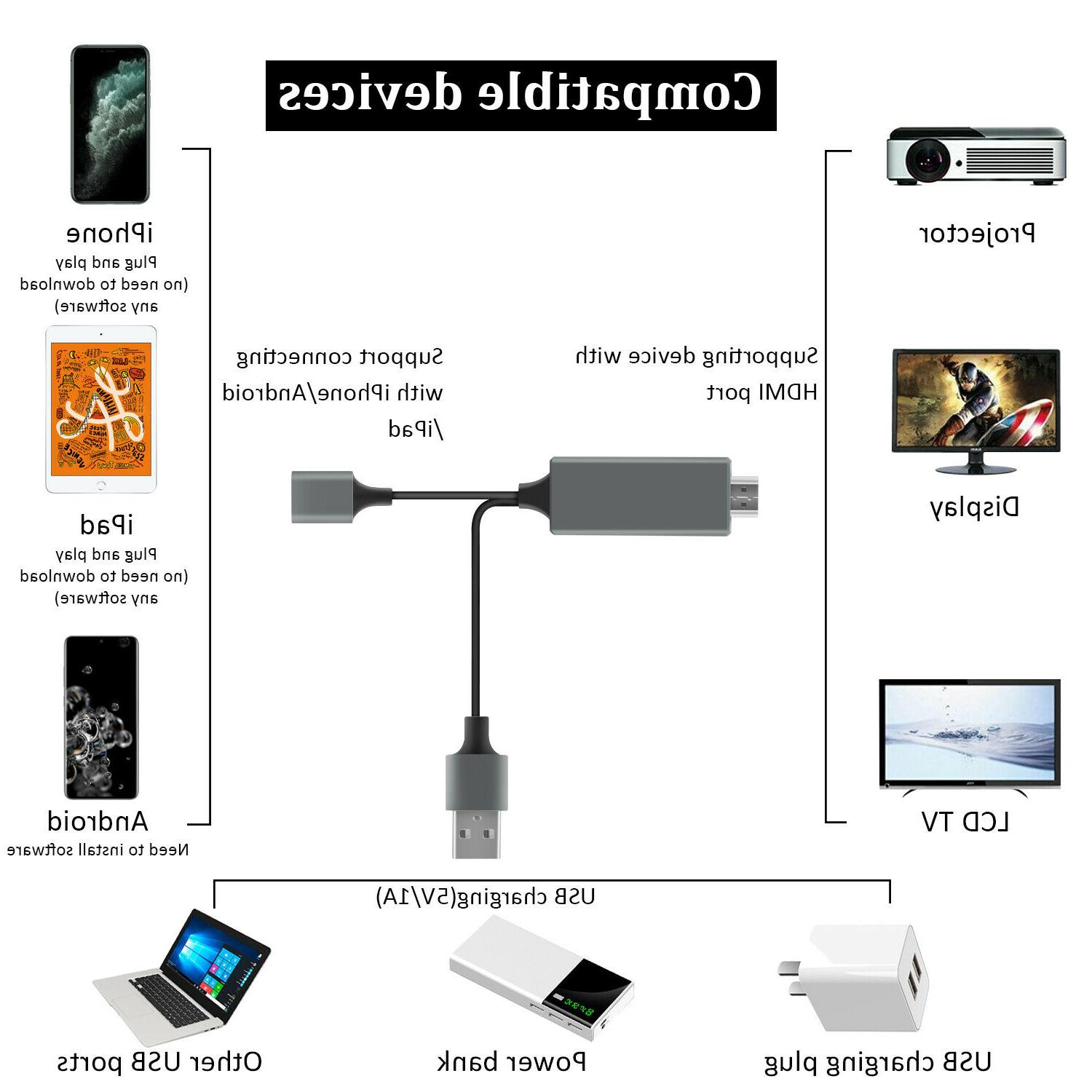 1080P HD HDMI Smart Cable Phone TV For
