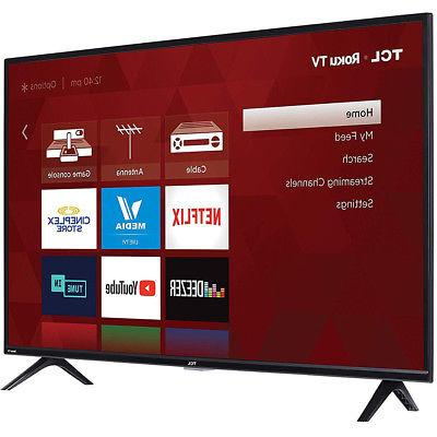 "TCL 40"" LED Roku 60Hz Refresh Rate"