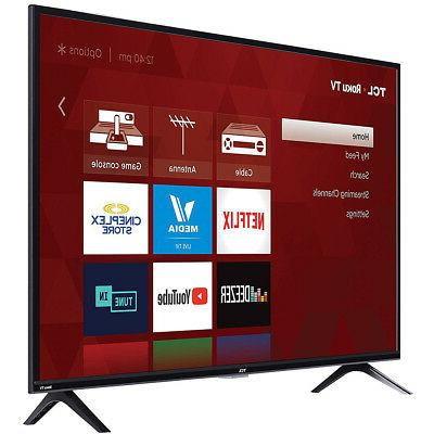"TCL 40"" 1080p LED 3-Series Dual-Band Roku TV"