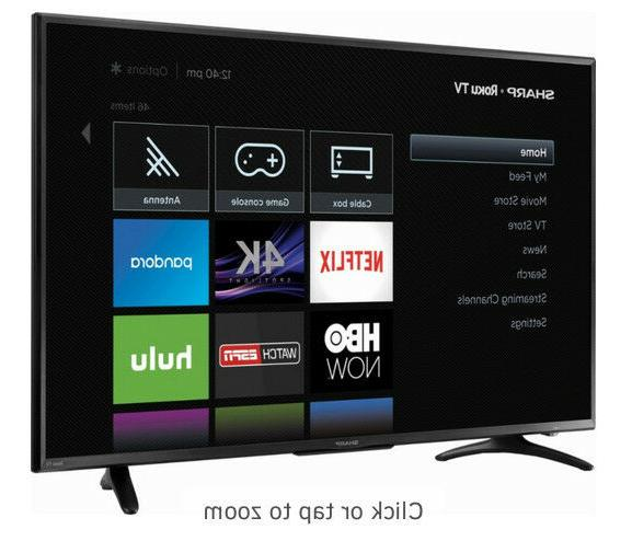 "Sharp 50"" - - Ultra TV Roku TV"