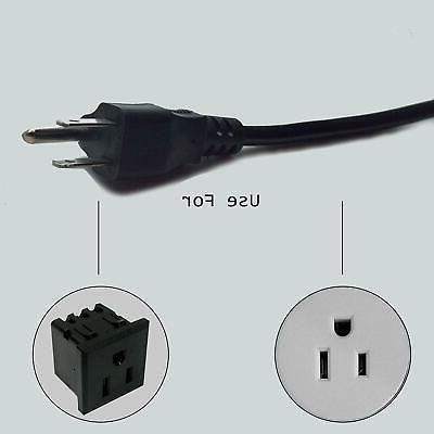 6ft 3Prong AC for LG LED Smart