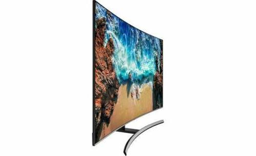 "Samsung UN65NU8500 65"" curved Smart LED 4K Ultra HD TV with"