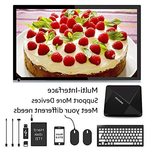 Android TV Dolamee D5 Android Box 64 Bits Processor RAM 16GB ROM Media 4K WiFi Bluetooth4.0