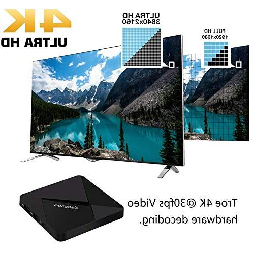 Android D5 64 RAM 16GB Smart Media 4K WiFi Built-in Bluetooth4.0