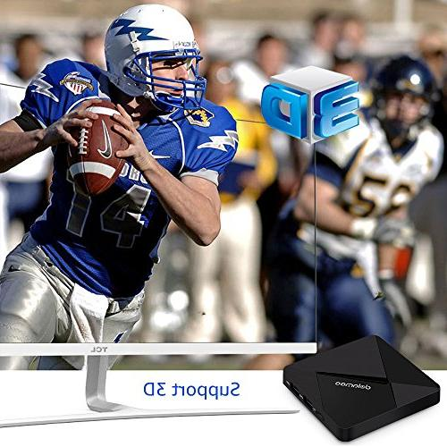 Android D5 Android TV Box Amlogic S905 64 Processor RAM ROM Smart Media Player 4K WiFi
