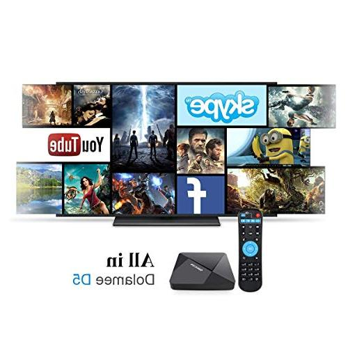 Android TV D5 Android 7.1 64 2GB RAM 16GB Media Player with 4K Built-in