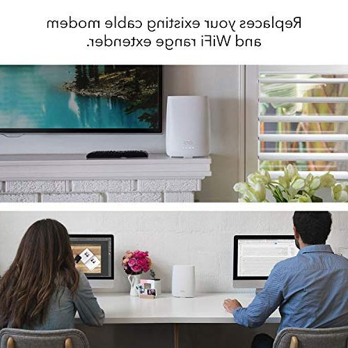 NETGEAR Orbi Home WiFi with cable and single speeds to Gbps over 4,000 feet, AC2200