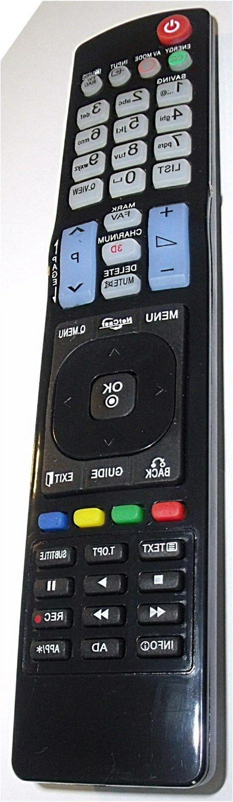 replacement remote control fits lg akb73756504