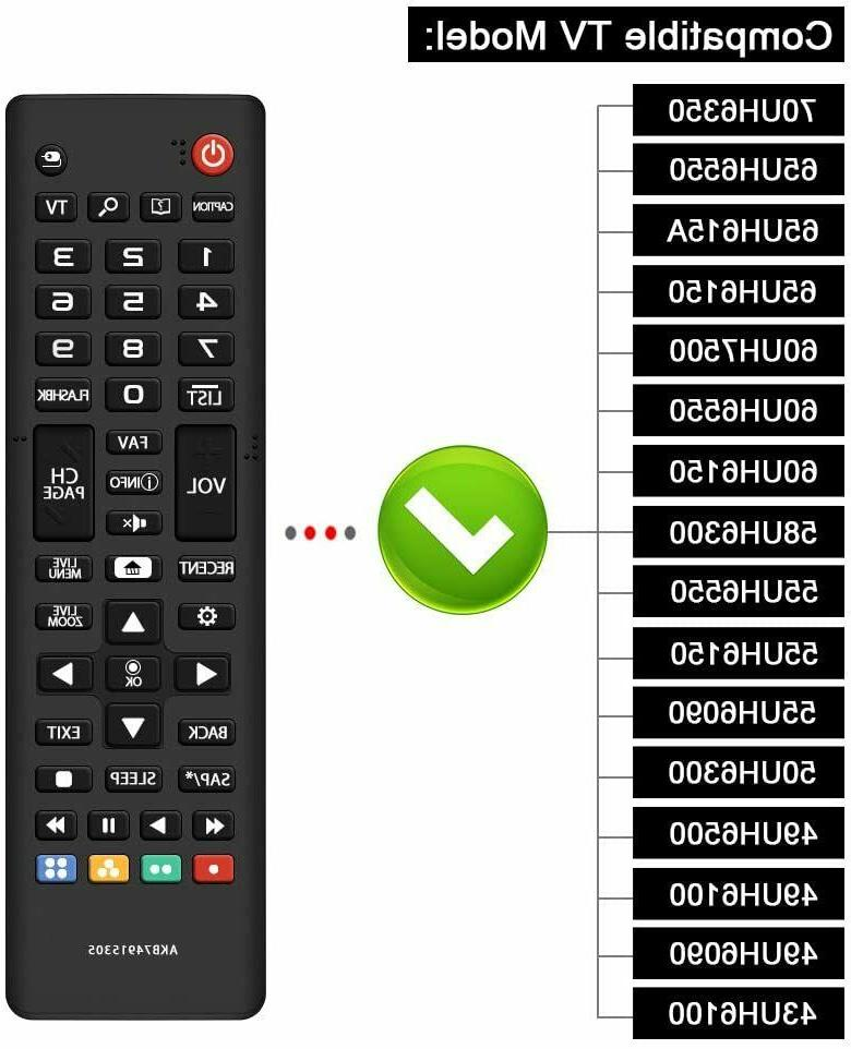 universal remote control akb74915305 for lg lcd