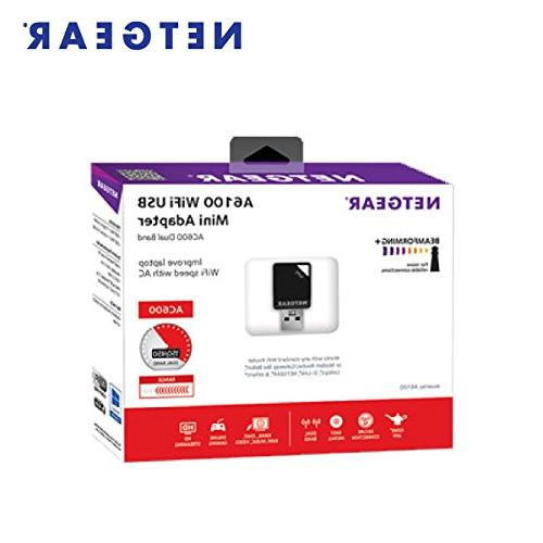 NEW  NETGEAR Wireless AC Adapter AC600 Dual Band Model A6100