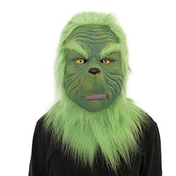 LtrottedJ Cosplay Grinch Mask Melting Face Latex Costume Col
