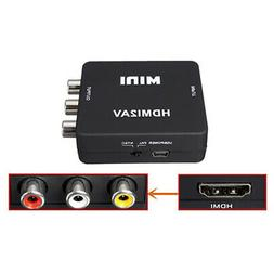 Mini 1080P HDMI to RCA Audio Video AV CVBS Adapter Converter