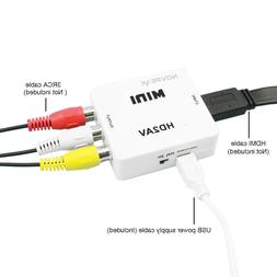 Mini HDMI To AV Adapter Converter Cable CVBS 3RCA 1080P Comp