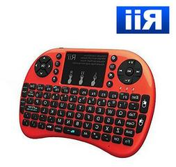 Rii mini i8+ 2.4Ghz wireless RED keyboard WITH BACK-LIT for