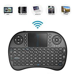2.4GHz Mini Mobile Wireless Keyboard with Touchpad, Remote C