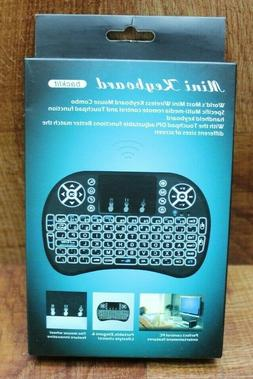 Mini Wireless Bluetooth Backlight Touchpad Keyboard for PC/M
