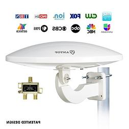 Outdoor Amplified TV Antenna,Antop UFO 65 Mile HDTV Attic/RV