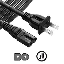 Chanzon 10Ft Polarized 7A AC Power Cord Compatible with Viz