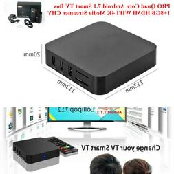 PRO Quad Core Android 7.1 Smart TV Box 1+8GB HDMI WIFI 4K Me