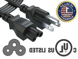 Pwr+ UL Listed Long 6 Ft Cable 3 Prong TV Power Cord for LG