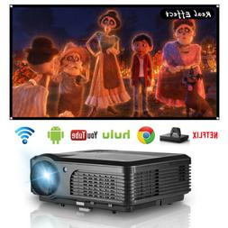 smart hd android wifi projector video home
