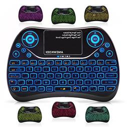 2.4GHz Wireless Mini Keyboard Backlit with Touchpad Mouse C