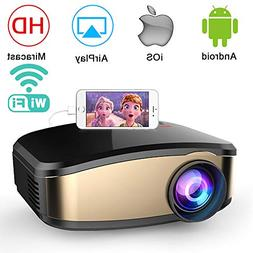 WiFi Video Projector, Weton 50% Brighter Wireless Movie Proj